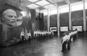 Торжественная линейка пионерской организации