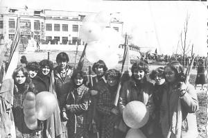 1979 год Первомайская демонстрация