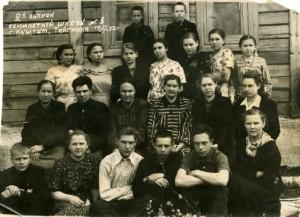 Второй выпуск семилетней школы №8 1952 год