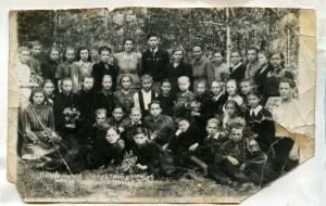 Пятый выпуск семилетней школы № 8 1954 год.
