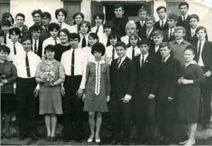 Юбилейный выпуск средней школы № 8 1969 год.