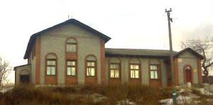 Привокзальная площадь. Здание бывшей школы № 6.